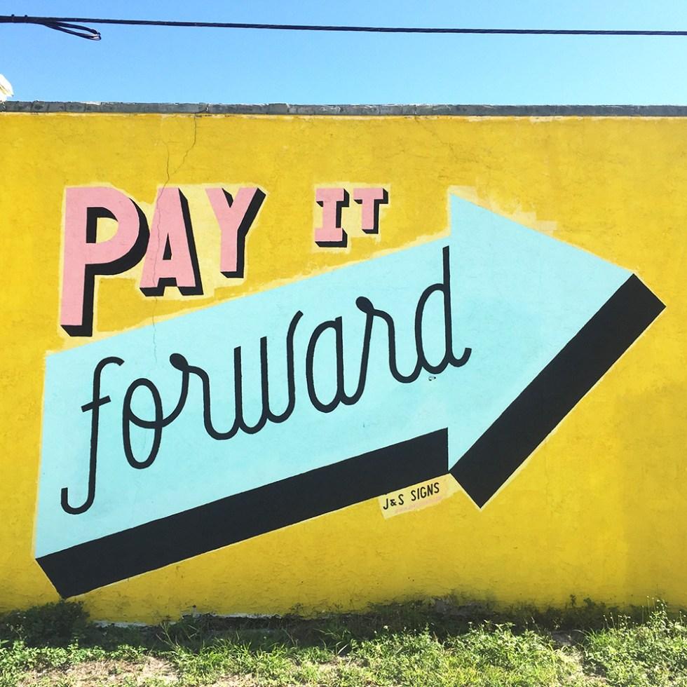 Pay it forward mural St. Petersburg