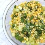 Green tomato and corn salad