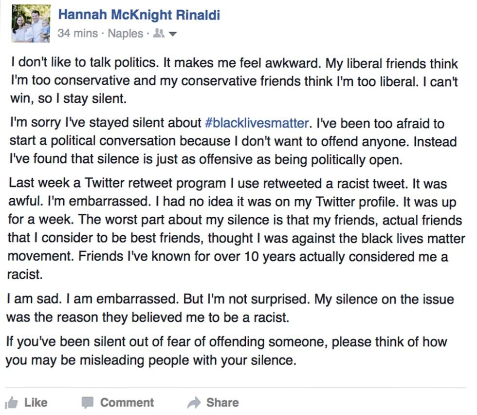 Facebook silence