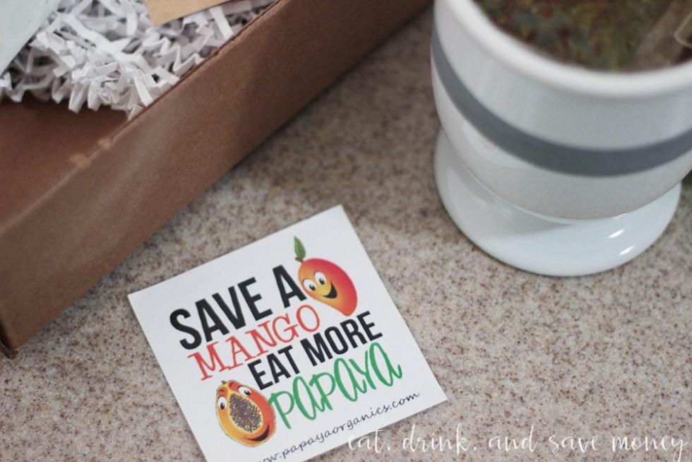 Save a mango eat a papaya