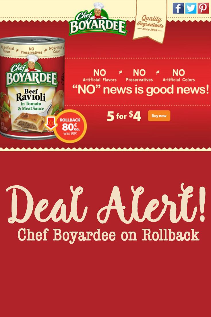 Chef Boyardee on rollback
