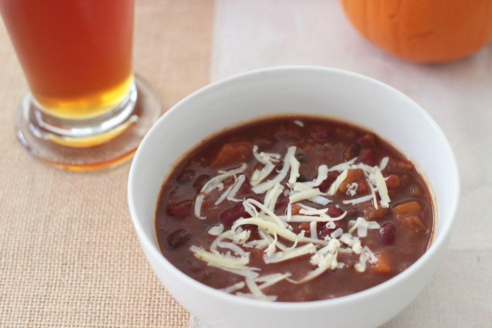 pumpkin chili with butternut squash