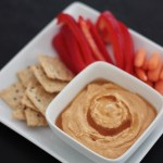 Asian hummus made with gochujang