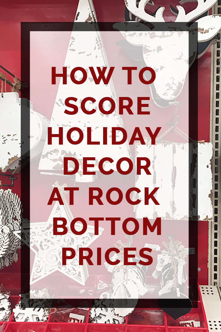how to score holiday decor at rock bottom prices