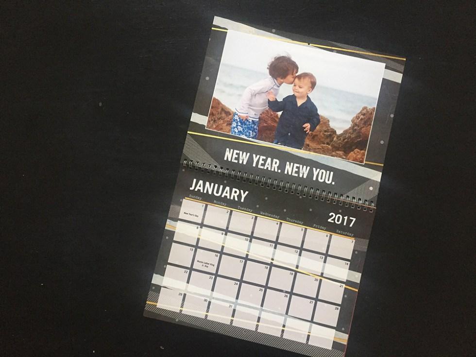 Shutterfly calendar as a Christmas gift