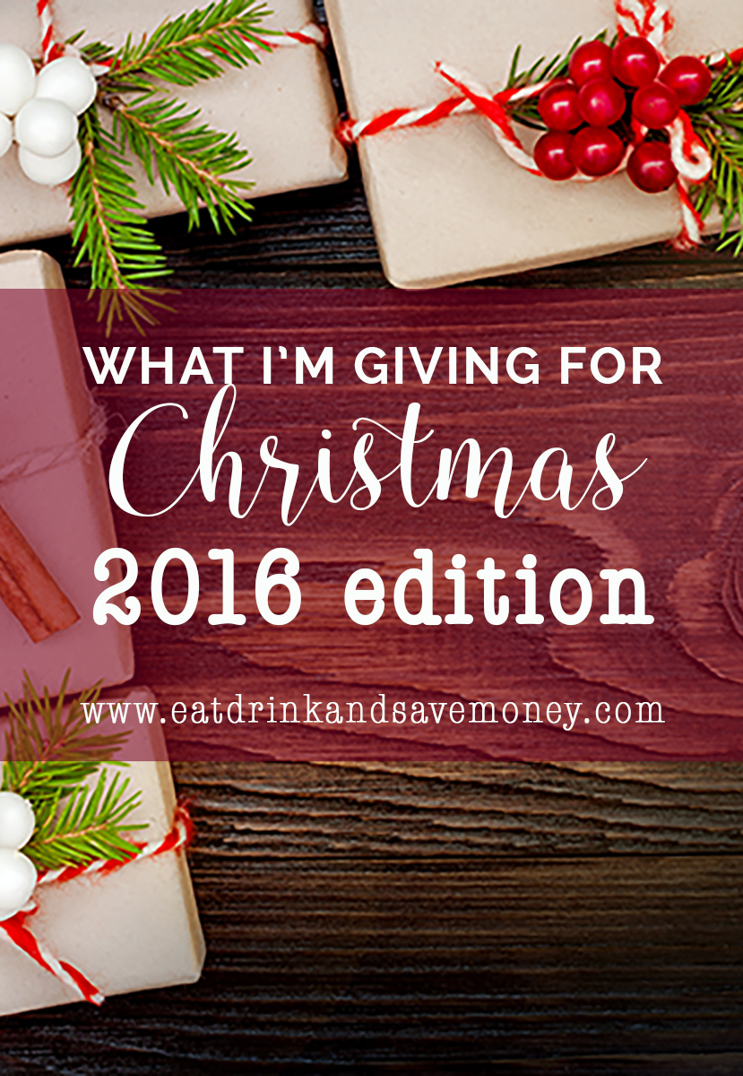 What I'm giving for Christmas 2016 edition. Check out what this frugal living blogger is actually giving for Christmas