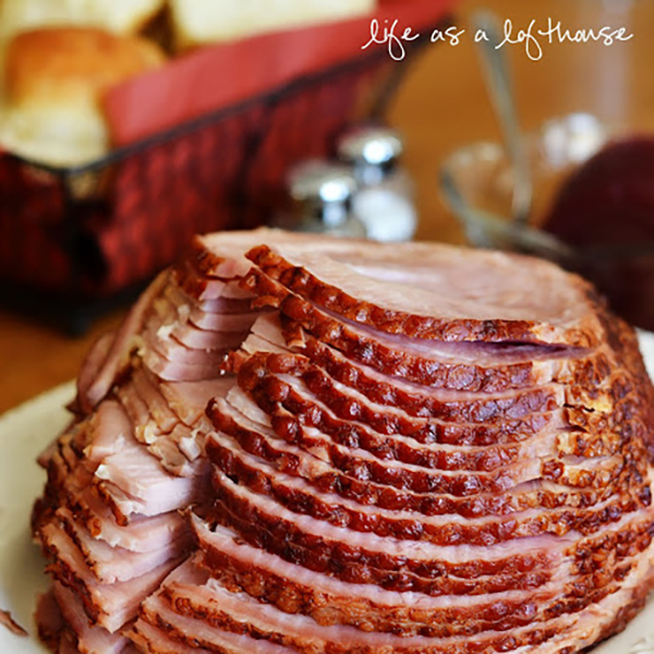 Easter Brunch Recipes- Crockpot brown sugar ham