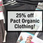 Deal Alert: 25% off PACT Organic Clothing