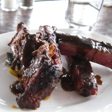 Boar Ribs with Whiskey BBQ Sauce