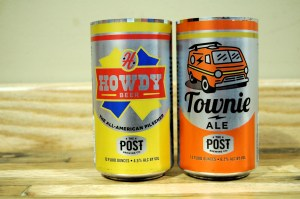 The Post will soon release Townie Ale and GABF winner Howdie in cans. Photo by Rachel Dugas