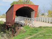 Roseman Bridge, off the beaten path in the backroads of Iowa.