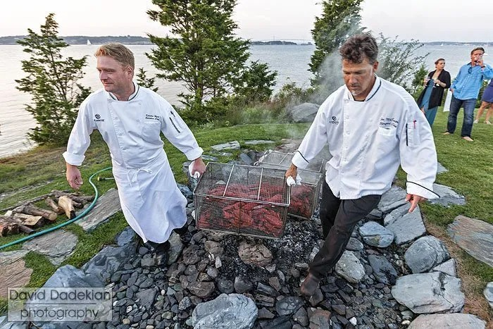 Castle Hill Inn Hosts Clambakes with their New Oceanside Pit