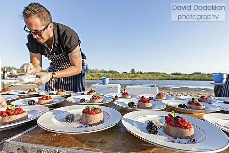 Plating dessert