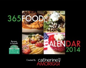 Catherine Amoriggi's 365 Food Calendar 2014 to support the RI Community Food Bank