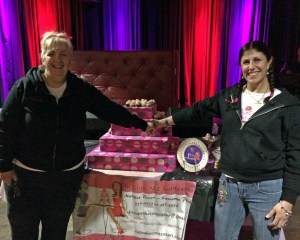 The CupCAKE Contessas, Marylee Dixon (left) and Karianne Polak (right), 1st Place Winners of RI Food Fights Great Cupcake Championship 2014