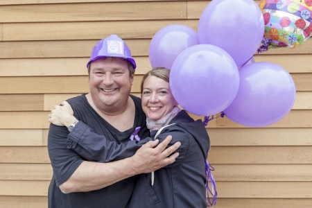 March of Dimes Rhode Island 2014 Signature Chef Joe Simone with Signature Chef Auction Chair Ellen Slattery of Gracie's