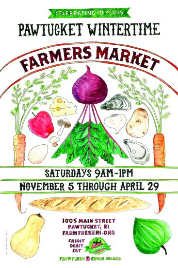 Farm Fresh RI Pawtucket Wintertime Farmers Market 2016 poster
