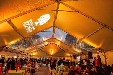 Tent interior at 2016 Eat Drink RI Festival Truck Stop to benefit the RI Community Food Bank. Photo by Stacey Doyle Photography