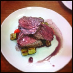 Lamb with Rosemary Jus