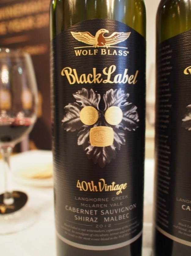 The 2012 Black Label Wolf Blass