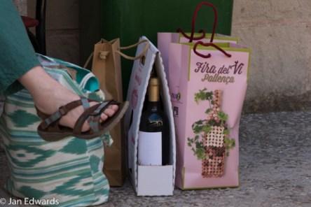 Buying wines.