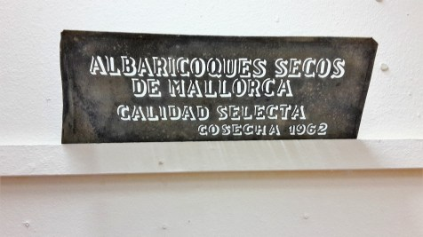An old sign, on display in the exhibition.