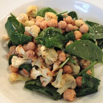Cauliflower with Chickpea and Spinach