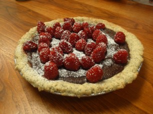 raspberry Nutella tart