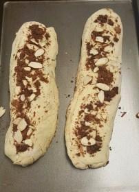 Chocolate Almond Croissant Bread (pre-oven)