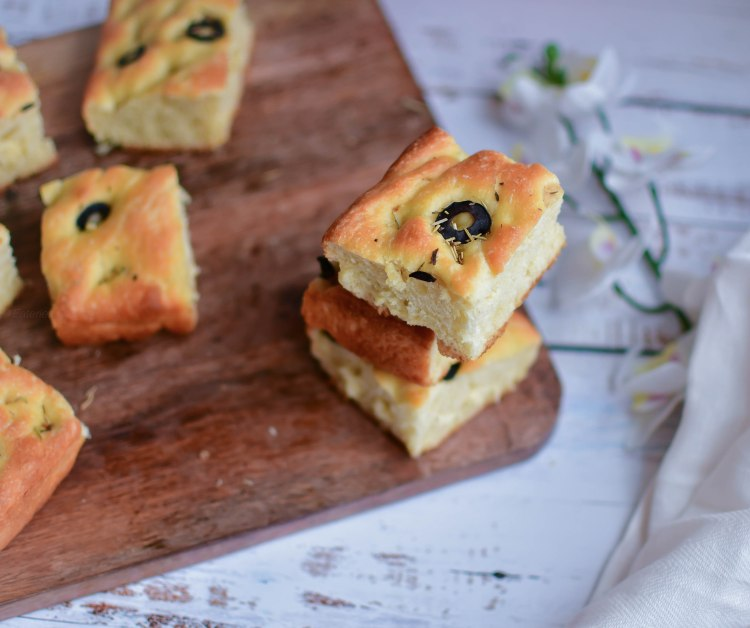 Focaccia with Olive and Herbs 11
