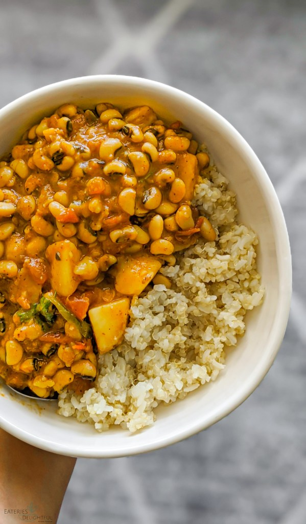 Lobia Curry |Vegan Black-eyed peas curry with Potatoes 7