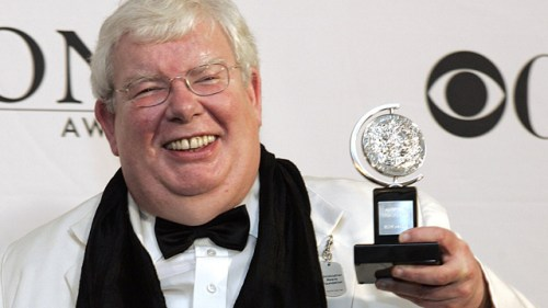 Richard Griffiths with Tony award