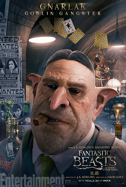 GALLERY: Fantastic Beasts and Where to Find Them - *EXCLUSIVE* Character Posters - Ron Perlman as Gnarlack