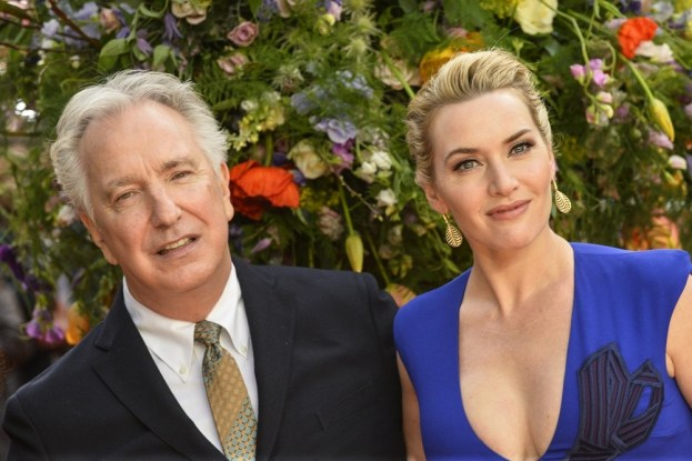"""Celebrities attends the U.K Premiere of """"A Little Chaos"""" at the Odeon Kensington in London.Featuring: Kate Winslet, Alan RickmanWhere: London, United KingdomWhen: 13 Apr 2015Credit: Euan Cherry/WENN.com"""