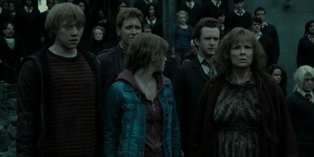 Percy durante la Battaglia di Hogwarts