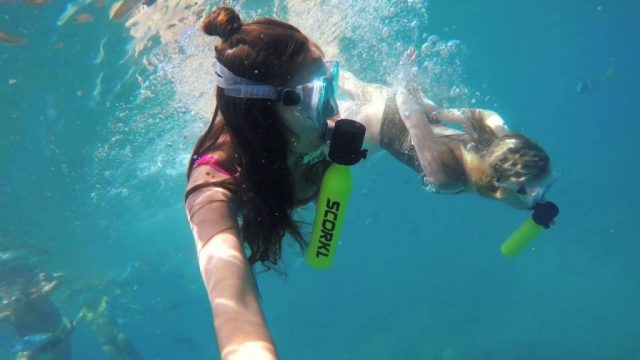 minibombola per respirare sott'acqua