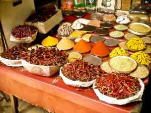 Gewürzbasar in Indien