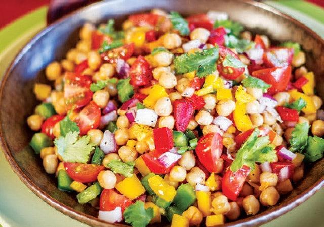 chickpea-coriander-salad