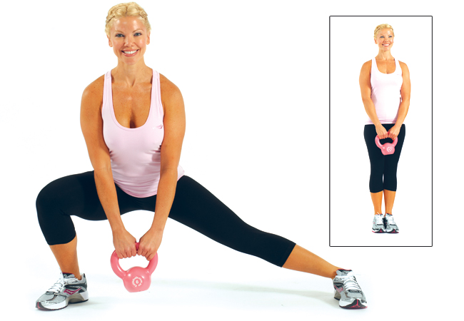 Side lunges - for inner thighs and legs - IMAGE - Women's Health & Fitness