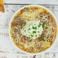 Instant Pot Meaty Lasagna Soup