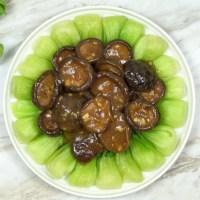 Shiitake Mushrooms with Bok Choy