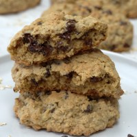 Big Chocolate Chip Oatmeal Cookies