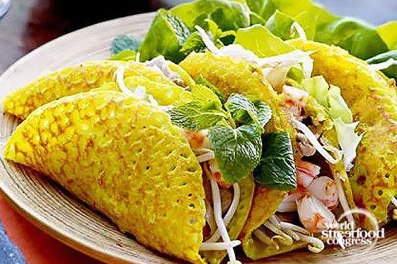 Banh Xeo (Crispy Seafood Pancake) - Vietnam