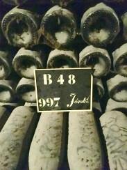 Pommeray aging bottles