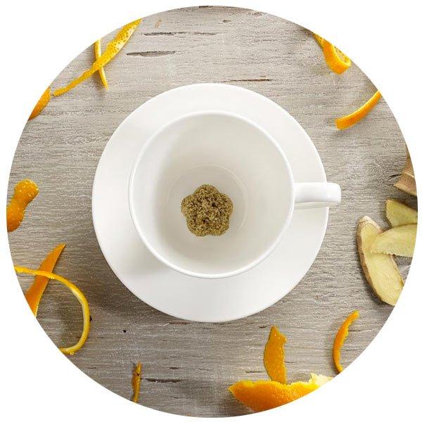 A cup of Tea Drop Tea from the Tea Box Sampler