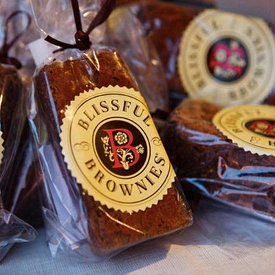 Blissful Gourmet Brownies Individually Wrapped in Cellophane