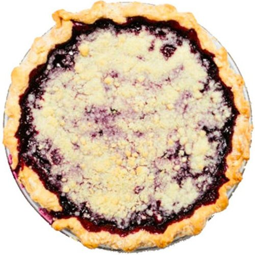 Crumb-Top Blueberry Pie