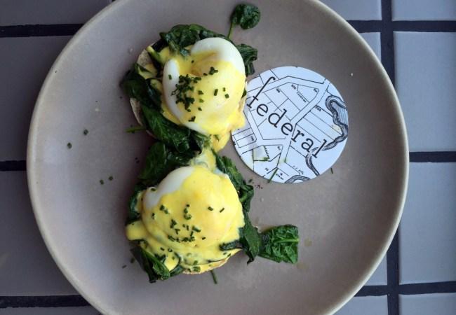 Huevos benedict con espinacas - 9,20€