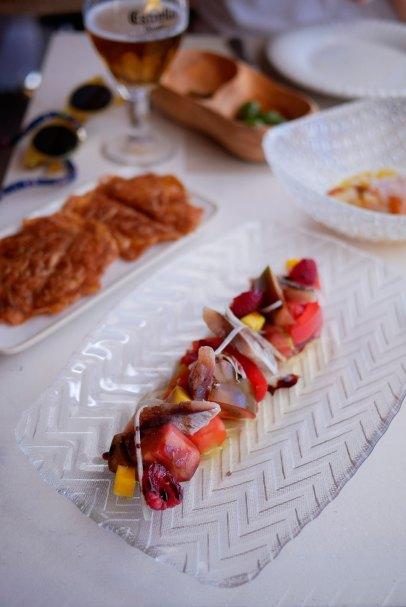 Tomate con sardina ahumada - 10€
