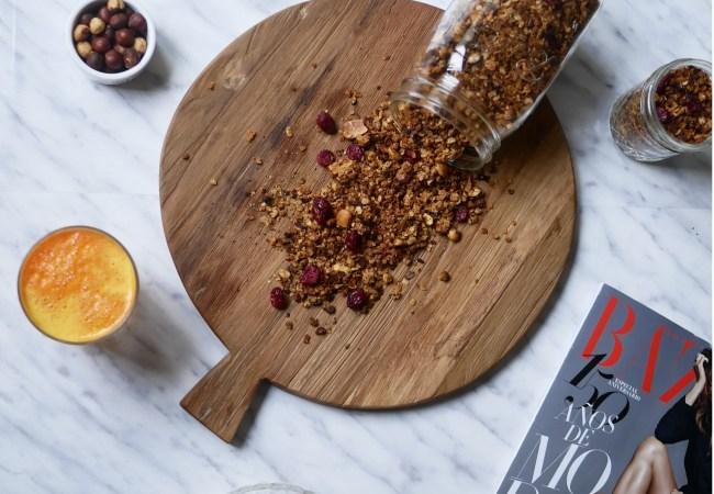 Granola casera, fácil y saludable
